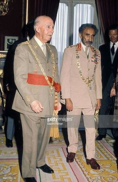 Emperor Haile Selassie in Spain/Madrid for an official visit in '1970' G.C Www.gettyimages.pt