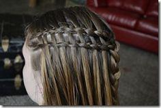 Easy girls Hair, double waterfall braid