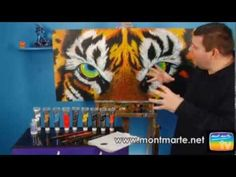 How to paint a Tiger Portrait in Acrylic Paint! (+playlist)