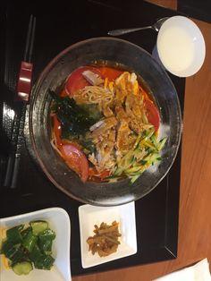 蒸し鶏冷麺@新橋