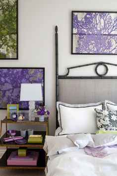 This is so pretty!  Purple eclectic bedroom Decorating with Pantones 2014 Color of the ...