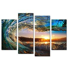 Cao Gen Decor Art-S70438 4 panels Framed Wall Art Waves P... https://smile.amazon.com/dp/B01MA4862D/ref=cm_sw_r_pi_dp_x_ed9FybZE6V4SF