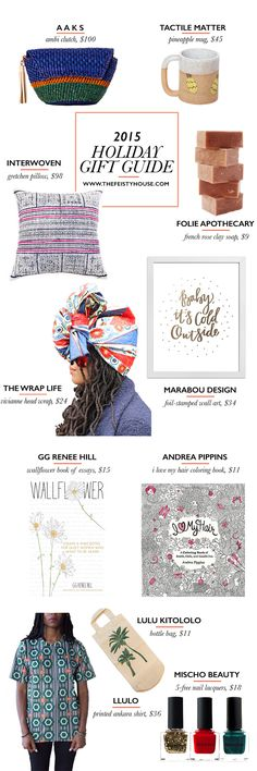 // 2015 Holiday Gift Guide featuring 11 Black and Woman-Owned Businesses //