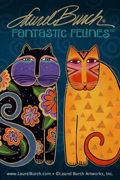 Cat artist Laurel Burch's iPhone cat wallpaper  Fantastic Felines