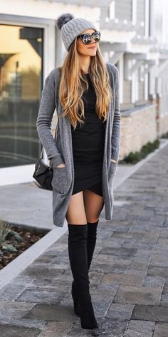 40 Comfy Winter Fashion Outfits for Women in This Year - - Source by knee high boots outfit Winter Fashion Outfits, Fall Winter Outfits, Look Fashion, Trendy Fashion, Autumn Fashion, Womens Fashion, Casual Winter, Winter Clothes, Fashion Boots