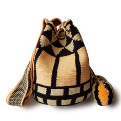 $49.90-$52.90 #Wayuubags. These double thread small mochila bag are perfect for carrying around a few items such as your phone, wallet and a few other necessities. They also make a very cute gift for younger women and young girls. The colors of these mochilas Wayuu are inspired by the vivid colors that surround region of La Guajira. All Wayuu bags come with a handwritten postcard, and little gift. The time required to elaborate a Wayuu Mochila varies from 4-7 days.  www.lombiaandco.com Tapestry Bag, Tapestry Crochet, Gifts For Young Women, Knitting Bags, Crochet Handbags, Phone Wallet, Little Gifts, Women Empowerment, Cute Gifts