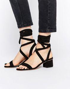 asos asos tessa lace up heeled sandals at asos