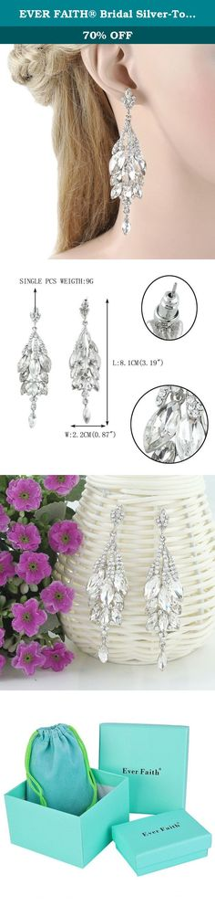 EVER FAITH® Bridal Silver-Tone Teardrop Cluster Chandelier Earrings Clear Austrian Crystal. This creates a lovely, delicate shimmering effect as the earrings moves when worn Ever Faith As a company that concentrates on fashion jewelry, we already have about 10 years experience on fashion jewelry trend. We work magic on jewelry, keep on new designs and to a leader of beauty and style is our goal. We have over 5000 products and are good at sustaining innovations. Ever Faith's pieces are…