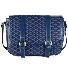 Goyard Messenger Shoulder Bag Navy Blue PM