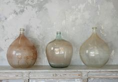 large antique wine flasks from Provence