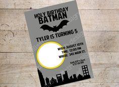 PRINTABLE BATMAN INVITATION Photo by BlissfulBethDesigns on Etsy