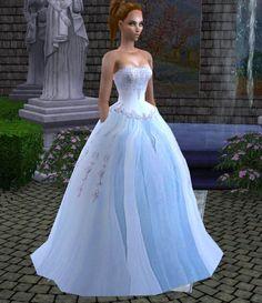 Mod The Sims - Beaded Bridal/Ballroom Gown