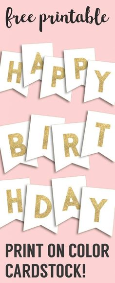 free printable happy birthday banner and alphabet the best of six