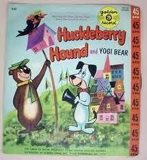 Huckleberry Hound and Yogi Bear books, remember this, cartoon, rememb childhood, huckleberri hound, bears, fisher price, childhood memori, yogi bear