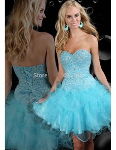 Sexy Short Homecoming Dresses 2016 Sweetheart Blue Cocktail Party Dresses 8th Grade Prom Dresses Robe de Soiree