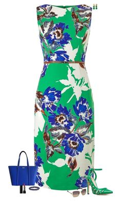"""Green & blue"" by julietajj on Polyvore featuring Phase Eight, ShoeDazzle, Kate Spade, NOVICA, Meredith Frederick and Swarovski"