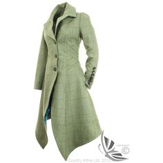 LiBErty FREEdom Sarah Long Coat Clayton Tweed ❤ liked on Polyvore