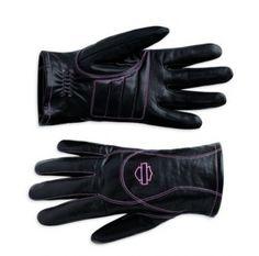 Harley-Davidson® Women's Pink Label Full Finger Gloves 98372-10VW