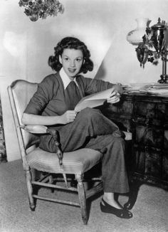 Judy Garland answering fan mail.
