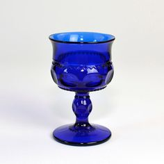 #Vintage #Cobalt #Blue #Glass #Candle #Holder - Pedestal #Gothic Style, #Votive or #Tealight Size by OneRustyNail on #Etsy