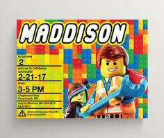 Hey, I found this really awesome Etsy listing at https://www.etsy.com/listing/498474151/lego-invitation-lego-birthday-invitation