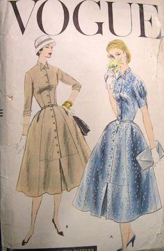 Vogue 8937, ca 1956; Sz 12/Bust 32