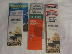 Sold Vintage 1970 S Us Road Maps