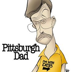 Caricature of Pittsburgh Dad by Randy Bish