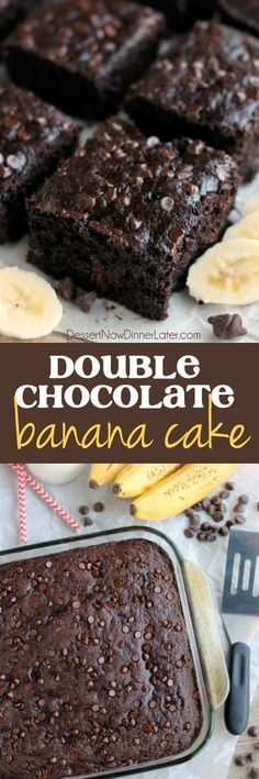 Double Chocolate Banana Cake | Food And Cake Recipes