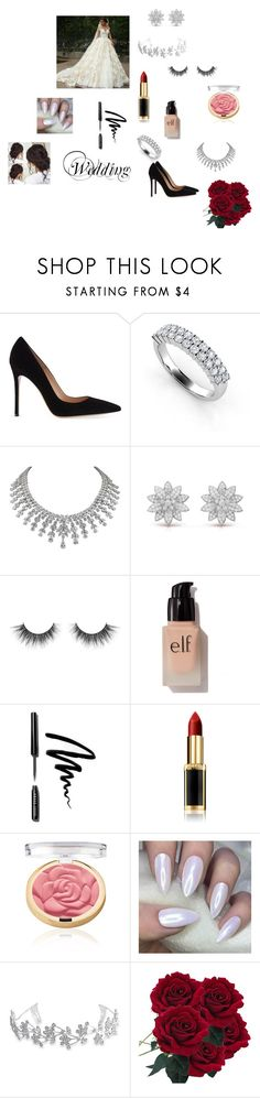 """""""Wedding"""" by jasmina28jaca ❤ liked on Polyvore featuring Gianvito Rossi, e.l.f., Bobbi Brown Cosmetics, L'Oréal Paris and Bling Jewelry"""