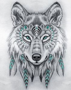 Tattoo Sketches 743094007251367329 - Tribal wolf drawing pencils, model black and white drawing with touches of blue, symbol amerindien Source by oxxelos Tattoo Sketches, Tattoo Drawings, Drawing Sketches, Art Drawings, Wolf Drawings, Drawing Drawing, Sketch Art, Tattoo Art, Drawing Ideas