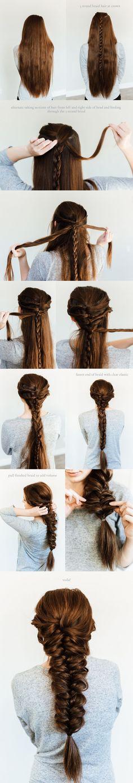Mermaid braid hair tutorial long hair // hairstyle // how to