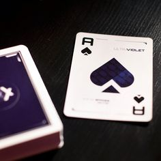 Ultraviolet Playing Cards just when I thought I had every kind of deck there was...