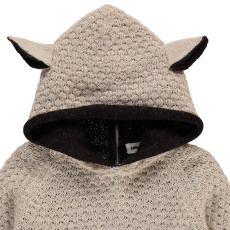 Oeuf NYC Alpaca Baby Burnous with Sheepskin Hood-listing
