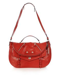 Alexander McQueen Medium Old Faithful Satchel in Red
