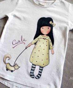 CAMISETA-PINTADA-A-MANO-AGUGUGAGA Fabric Paint Shirt, T Shirt Painting, Fabric Painting, Hand Applique, Applique Quilts, Hand Embroidery Designs, Embroidery Stitches, Fabric Paint Designs, Painted Clothes