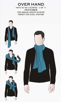 3-11 Different Ways to Tie a Scarf