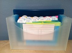 Organizer for spelling words for each week!