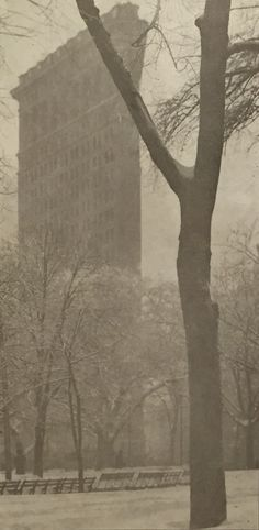 Alfred Stieglitz, The Flat Iron, October, 1903, 4:49, photogravure, 16.8 x 8.2 cm, price on request