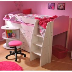 Stompa White Midi Bed A