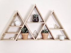 Giant geometric mountain shelf is an amazing statement piece!  44inches wide and 23 inches tall. 3.5 in deep  ---MADE TO ORDER--- Take 1-2 weeks