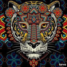 Jaguar Tattoo, Quetzal Tattoo, Arte Sci Fi, Psychedelic Drawings, Mexico Art, Aztec Art, Art Inspiration Drawing, Chicano Art, Cool Art Drawings