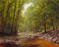 Wickecheoke July - Landscape Paintings by Joe Kazimierczyk