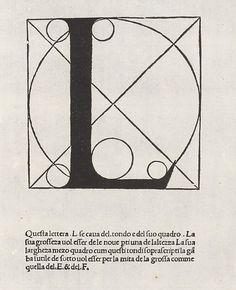 Fra Luca Pacioli - Divina proportione. Letera L