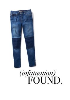 Love these classic-wash subtly distressed skimmer jeans with knee panelling from #Boden! #motojeans #fallfashion #buylist