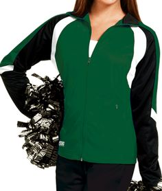 Wave Poly Tricot Cheerleading Warmup Jacket by Zoe Athletics