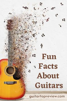 Take a look at some of the most funny, interesting, and unique facts about the guitar. Guitar Tips, Guitar Lessons, Indie Music, Folk Music, Unique Facts, Fun Facts, Acoustic Bass Guitar, Irish Rock, Guitar Reviews
