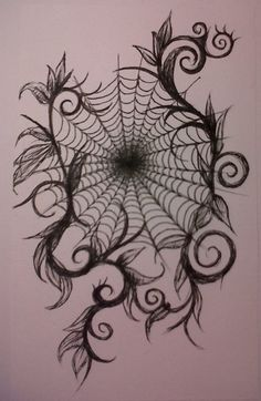 Just needs a teeny tiny spidee. Spiderweb {Davinakellett}