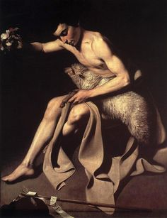St. John the Baptist by Caravaggio, 1595 Offentliche Kunstsamonlung, Basel Suisse