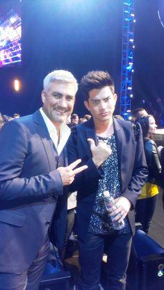 Adam Lambert w/Taylor Hicks